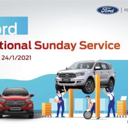 SUNDAY SERVICE - DỊCH VỤ NGÀY CHỦ NHẬT 17&24;/01/2020 TẠI ĐÀ LẠT FORD