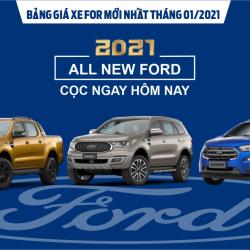 Bảng giá xe Ford mới nhất tháng 01/2021 tại Đà Lạt Ford
