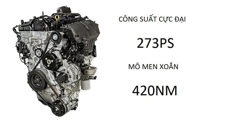 Công suất cực đại 273ps - Mô men xoắn 420Nm
